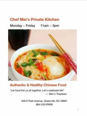 Mei Li Trapasso is bringing her authentic Chinese cooking to Park Avenue Pub for a special lunch-only dining experience.
