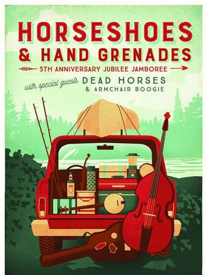 Horseshoes & Hand Grenades will celebrate its fifth anniversary with a concert this Friday at the Central Waters Brewing Company in Amherst.