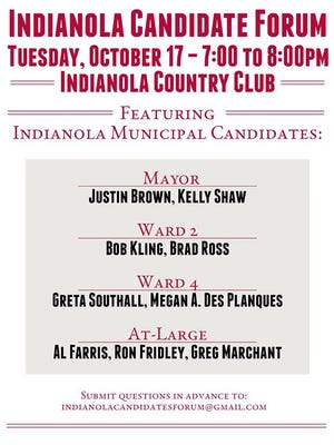 The Simpson College Culver Public Policy Center and The Record-Herald and Indianola Tribune are co-hosting an Indianola City Councl Candidate Forum Tuesday, Oct. 17.