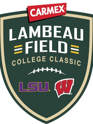 This is the logo for the Lambeau Field College Classic presented by Carmex.