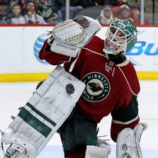 Minnesota Wild goalie Josh Harding missed the end of last season because of complications from multiple sclerosis.
