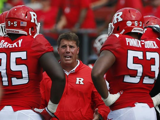 Chris Ash is in his first year as head coach at Rutgers