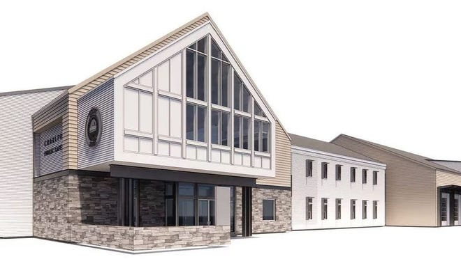A rendering of the proposed public safety building in Charlton.