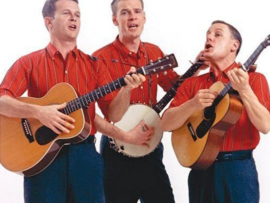 The Kingston Trio (original lineup).  From left: Bob Shane, Dave Guard and Nick Reynolds. in the late 1950s .