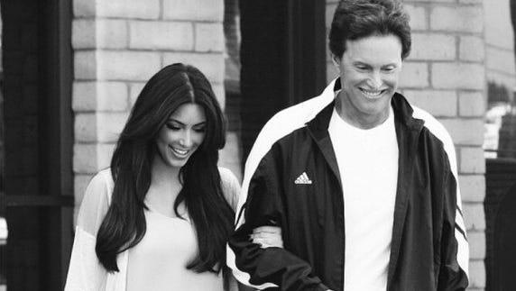 Kim Kardashian with step-dad Bruce Jenner.