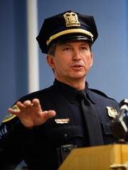 Sgt. Paul Parizek of the Des Moines Police Department speaks during a press conference in  February 2018.