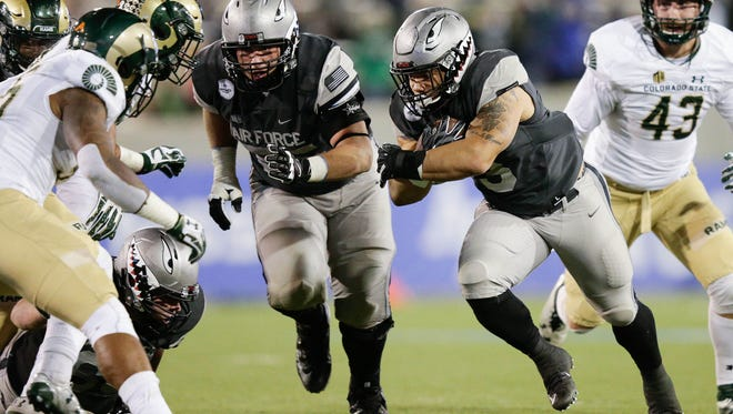 CSU defenders had a difficult time stopping Air Force fullback D.J. Johnson and his teammates last Saturday night, allowing 485 rushing yards. The Rams face a similar option offense this week in New Mexico.