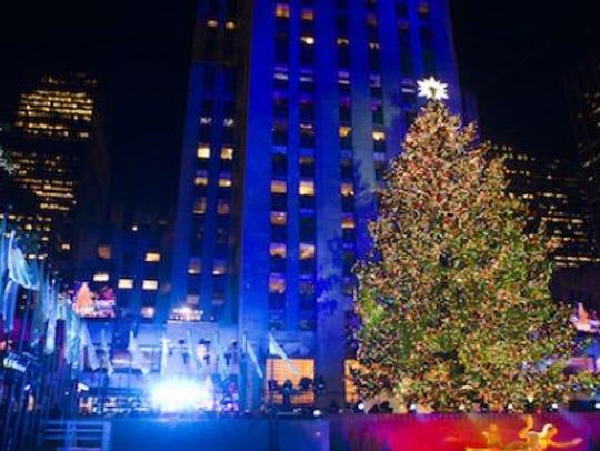 The annual lighting of the Rockefeller Christmas tree