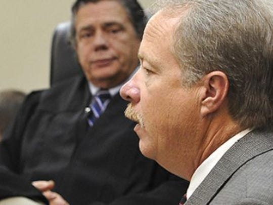Metro police Detective Mike Roland testifies in court.