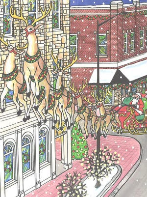 Carolyn Stich's holiday card is now on sale at the Holland Area Visitors Bureau, Carolyn Stich Studio and Van Wieren Hardware in Holland.