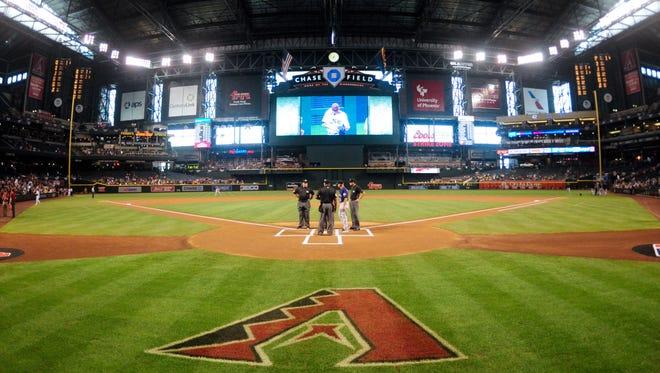 Apr 6, 2016; Phoenix, AZ, USA; General view of Chase Field prior to the game between the Arizona Diamondbacks and the Colorado Rockies.