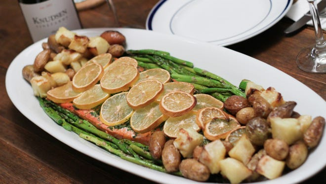 An effortless and delicious way of preparing steelhead that's now in season is to lightly season it with salt and pepper and then cover it with chopped dill and slices of lemons, oranges or even grapefruit and then bake in the oven or grill outdoors.