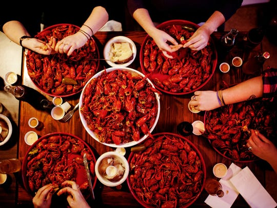 Hawk's Restaurant is known for its large, clean crawfish.