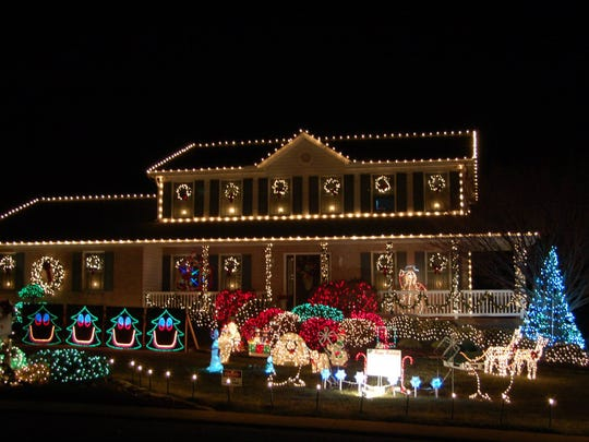 In year's past, the Bromley family home in Shrewsbury - They Pulled The Plug On Big Christmas Light Display