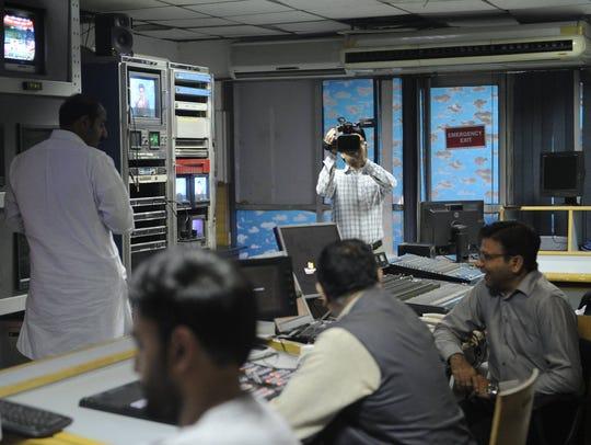 Pakistani newsroom. March 13, 2018.