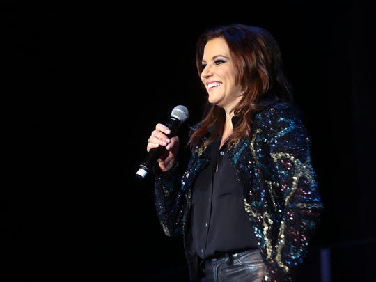 Country singer Martina McBride and her band perform as part of her tour, The Everlasting Tour, at Spotlight 29 Casino on Thursday night, February 26, 2015 in Coachella, Calif. McBride opened the concert with the songs When God-Fearin' Women Get the Blues and Wild Angels.