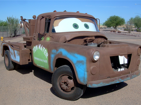 Tow Mater re-creation truck