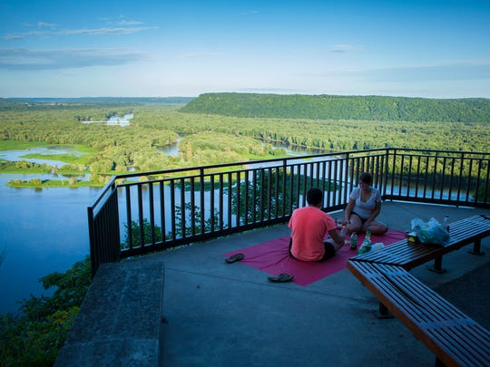 Iowa - Pikes Peak State Park in McGregor offers picturesque picnicking overlooking the Mississippi River.