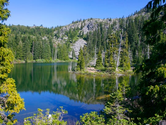 Island Lake in the Siskiyou Wilderness.