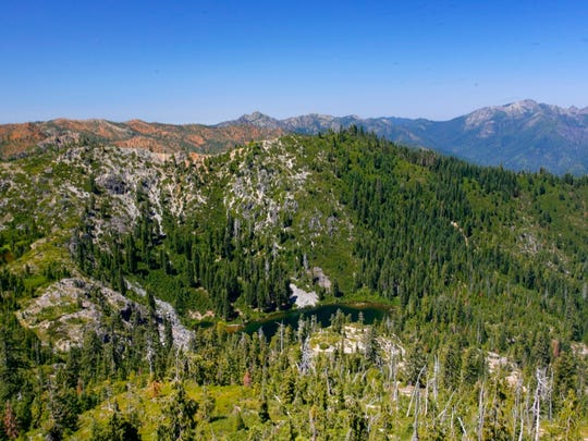 Bear Lake basin, in the Siskiyou Wilderness.