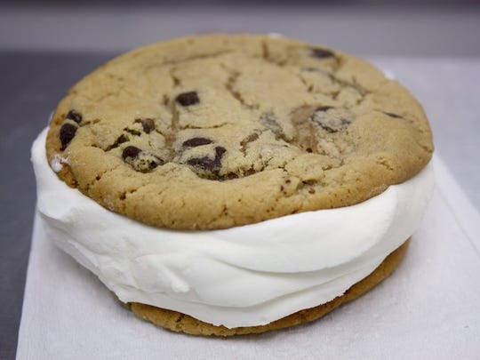 """The """"Pamwich"""" is a fan favorite that uses homemade chocolate chip cookies."""