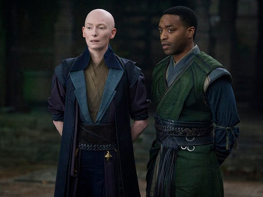 Marvel's DOCTOR STRANGE..L to R: The Ancient One (Tilda Swinton) and Mordo (Chiwetel Ejiofor).