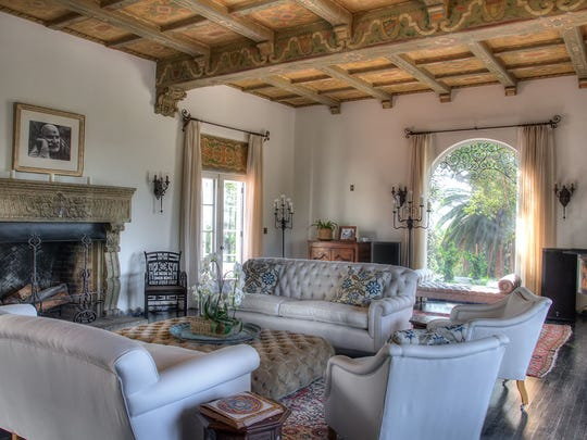 The living room of El Toro, one of the homes on this weekend's Ojai Holiday Home Tour & Marketplace.