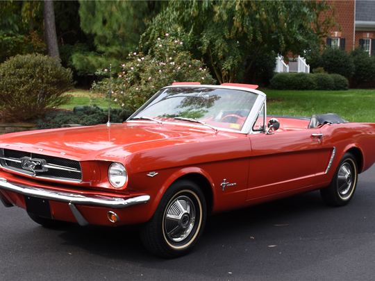 This 1965 Ford Mustang convertible is scheduled for auction at Barrett-Jackson Scottsdale on Tuesday, Jan. 17, 2017.