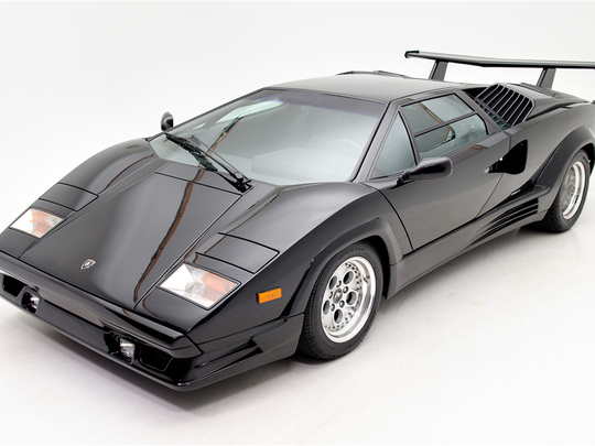 This 1989 Lamborghini Countach is scheduled for auction at Barrett-Jackson Scottsdale on Saturday, Jan. 21, 2017.