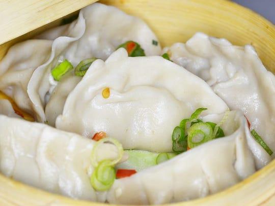 The steamed dumplings at Spice Rack.