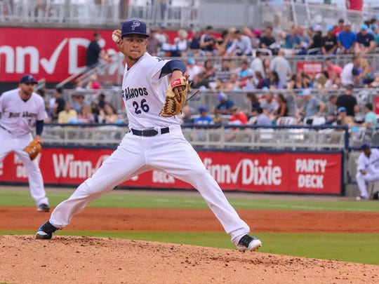 The Blue Wahoos'  Luis Castillo, part of a pitching staff that led the team to its fourth half-season division crown, was called up to start for the Cincinnati Reds on Friday against the Washington Nationals, becoming the 44th Blue Wahoos player to reach the big leagues.
