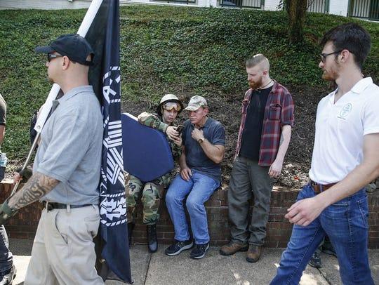White nationalist David Duke is shown video footage