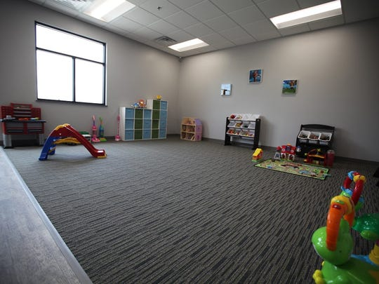 Creative Steps Childcare Center features a gym, full kitchen, activity room, imagination room, curriculum room, and individual classrooms for each level of child development.