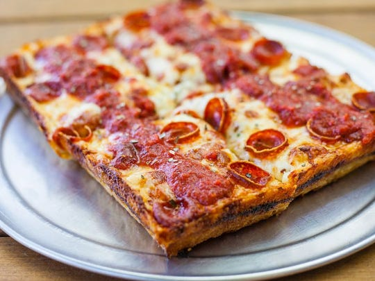 The Detroiter pizza at Parma Pizzeria Napoletana in Thousand Oaks features  two kinds of pepperoni and caramelized cheese as part of the crust.