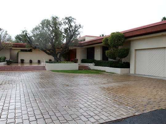 The exterior of the Rancho Mirage, Calif. home of former President Gerald R. Ford and first lady Betty Ford is photographed on Monday, January 23, 2012. The 6,316-square-foot estate, which sits along the 13th hole of Thunderbird Country Club, is being listed for sale at $1.699 million.