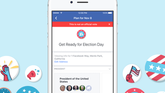 Facebook's  new voter planner feature