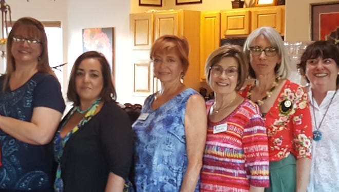 Pictured, from left, are Soroptimist International of Las Cruces 2018-2019 officers Jean Alba, Chris Sheppard, Angela Velasco, Becky King, Betsy Holt, Treasurer, Jan Brydon and KC Carda.