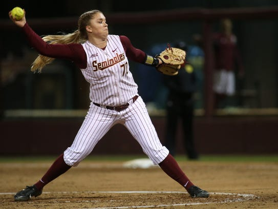 FSU's Cassidy Davis pitches against FAMU during their