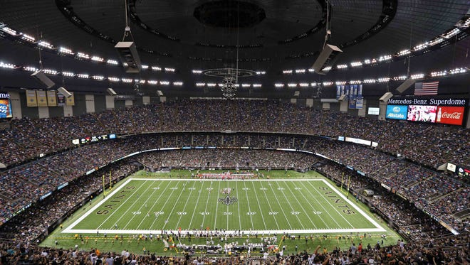 Aug 9, 2013; New Orleans, LA, USA; General view of the New Orleans Saints playing the Kansas City Chiefs during the third quarter of their game at the Mercedes-Benz Superdome. Mandatory Credit: Chuck Cook-USA TODAY Sports