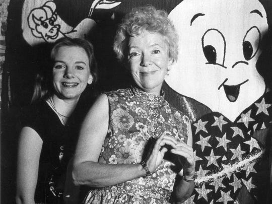 Alison Arngrim and mother Norma Macmilllan at a Hollywood