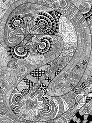 """This work by Jay Savage is featured in """"Doodles, Kaleidoscopes"""