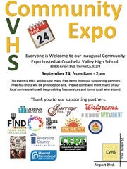 Coachella Valley High School will hold a community expo on Sept. 24 to connect families with local resources like healthcare.