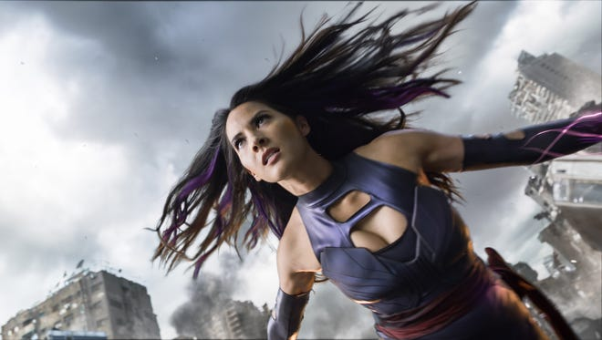 Not even a flying car is a match for Olivia Munn's psychic sword.