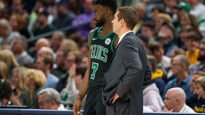 """""""I just think he's a special guy,"""" Celtics coach Brad Stevens said of Jaylen Brown. """"He's a special leader. He's smart, but he has courage. He's got a lot of great stuff to him."""""""