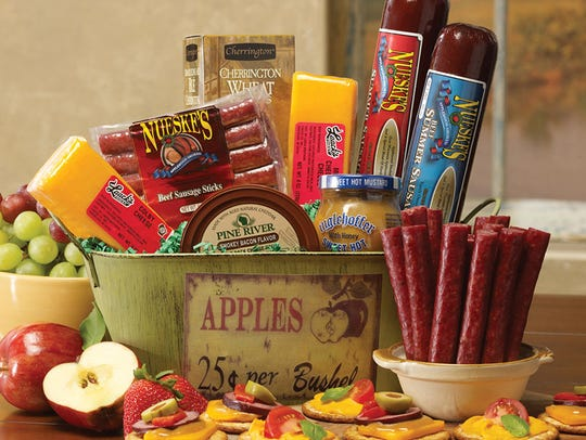 "WisconsinMade's ""Neuske's Party Basket"" features a"