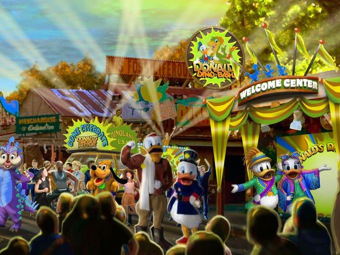 Disney Dinoland Time Travel Ride
