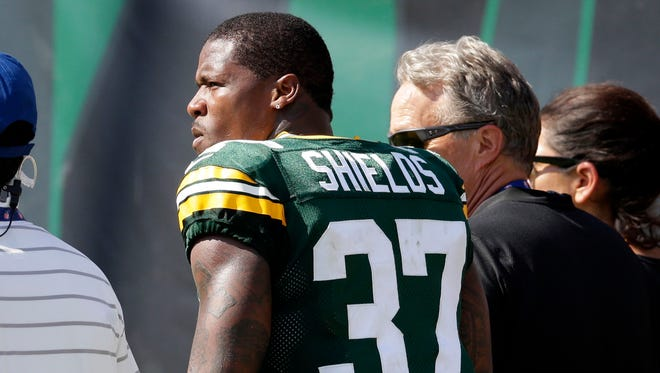 Green Bay Packers cornerback Sam Shields (37) left the game in the second half in Jacksonville with a concussion.