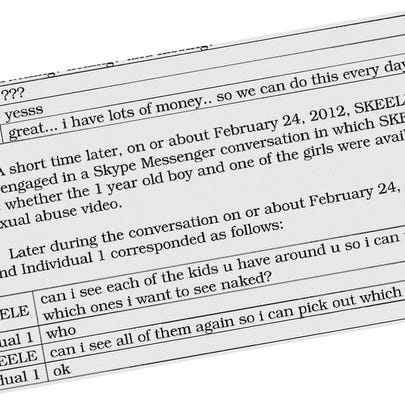 Excerpts from transcripts of conversations included
