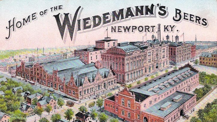 A postcard view of the former George Wiedemann Brewing