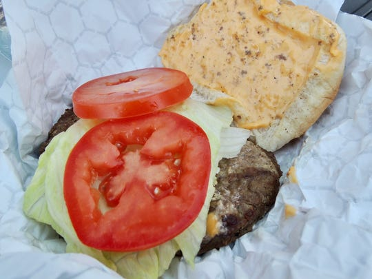 Cheeseburger at Tiger Field.